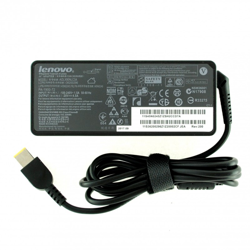 Τροφοδοτικό AC Adapter Lenovo 20V 4.5A 90W Dc size USB ADLX90NLC3A
