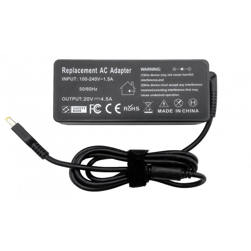 Τροφοδοτικό AC Adapter Lenovo 20V 4.5A 90W Dc size USB OEM Υψηλής ποιότητας