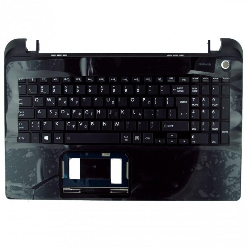 Palmrest πλαστικό -  Cover C για λάπτοπ Toshiba Satellite L50D-B, L50-B BLACK με Ελληνικό πληκτρολόγιο
