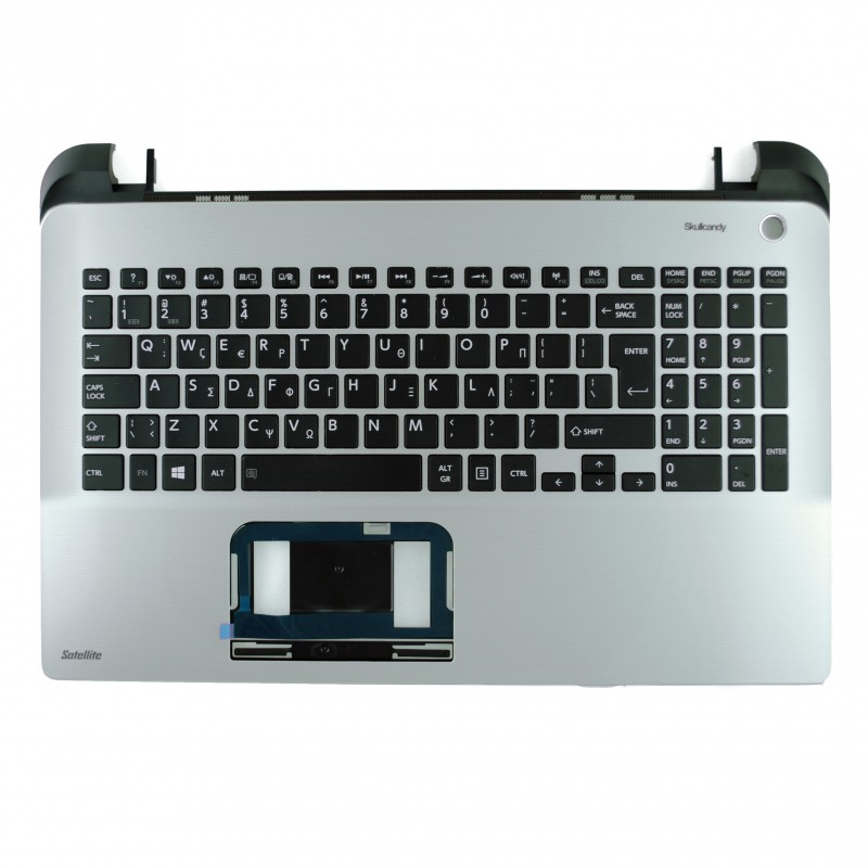 ORIGINAL Palmrest πλαστικό - Cover C για λάπτοπ Toshiba Satellite L50D-B, L50-B GREY-BLACK με Ελληνικό πληκτρολόγιο
