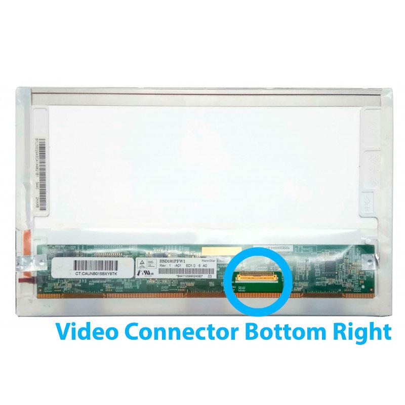 """Οθόνη για λάπτοπ 10.1"""" HSD101PFW1-A01 1024x600 40 Pin LED Video Connector Bottom Right"""